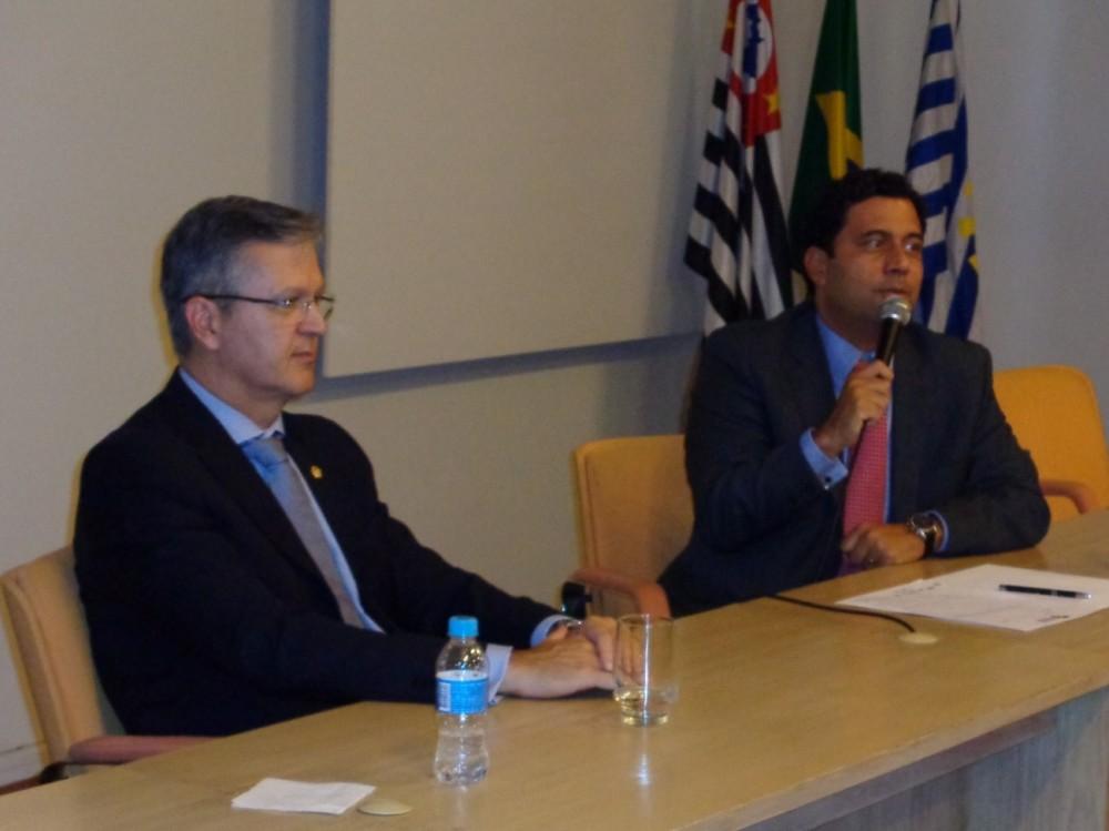 Dr. Douglas Alencar (Ministro do TST) e Dr. Bruno Freire (Advogado).